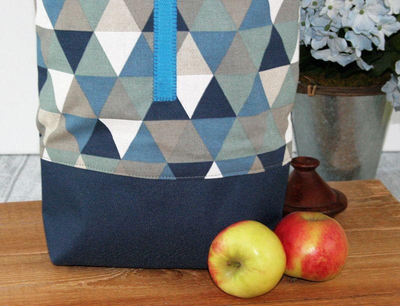 Kleinesbild - Lunchbag  Brotbeutel Jeanstasche blau zero waste Kosmetiktasche Geschenk Ostern