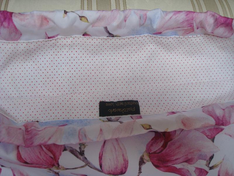 Kleinesbild - Rucksack - Turnbeutel  - Sportbeutel - Festivalbag - Blüten -  genäht aus wasserfestem Stoff ☆ von patchwerk ☆