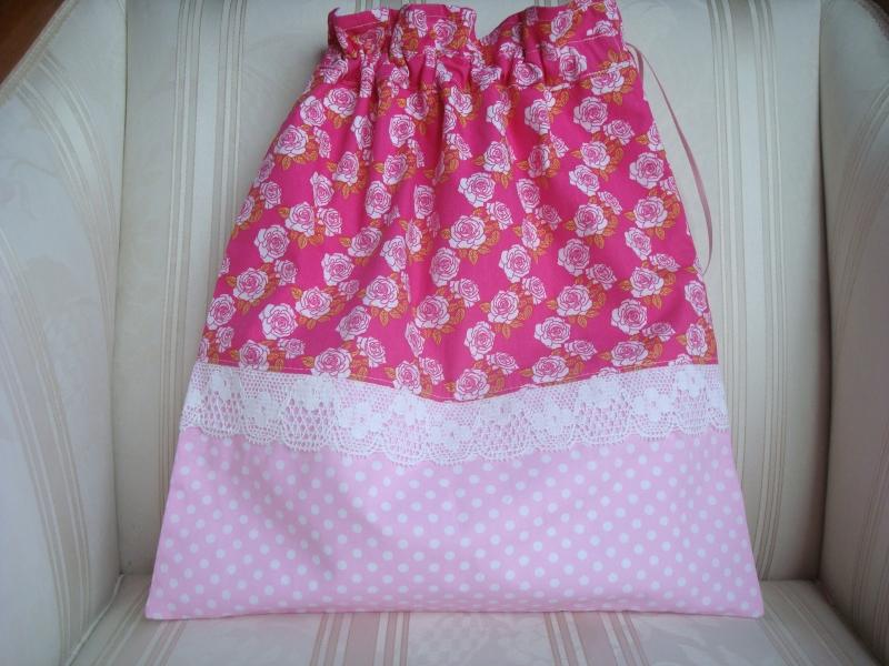 - Wäschesäckchen  - Wäschebeutel - pink - rosa- Röschen - genäht - ☆ von Patchwerk ☆ - Wäschesäckchen  - Wäschebeutel - pink - rosa- Röschen - genäht - ☆ von Patchwerk ☆
