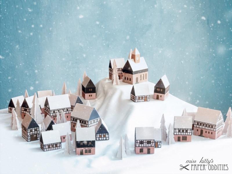 - Adventskalender »Erzgebirgisches Winterdorf« (Bastelset) - Adventskalender »Erzgebirgisches Winterdorf« (Bastelset)