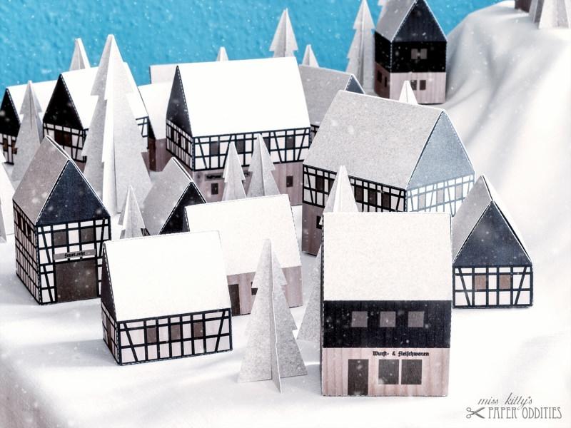 Kleinesbild - Adventskalender »Erzgebirgisches Winterdorf« (Bastelset)