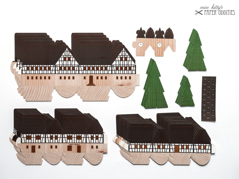 Kleinesbild - Adventskalender »Erzgebirgsdorf« (Bastelset)