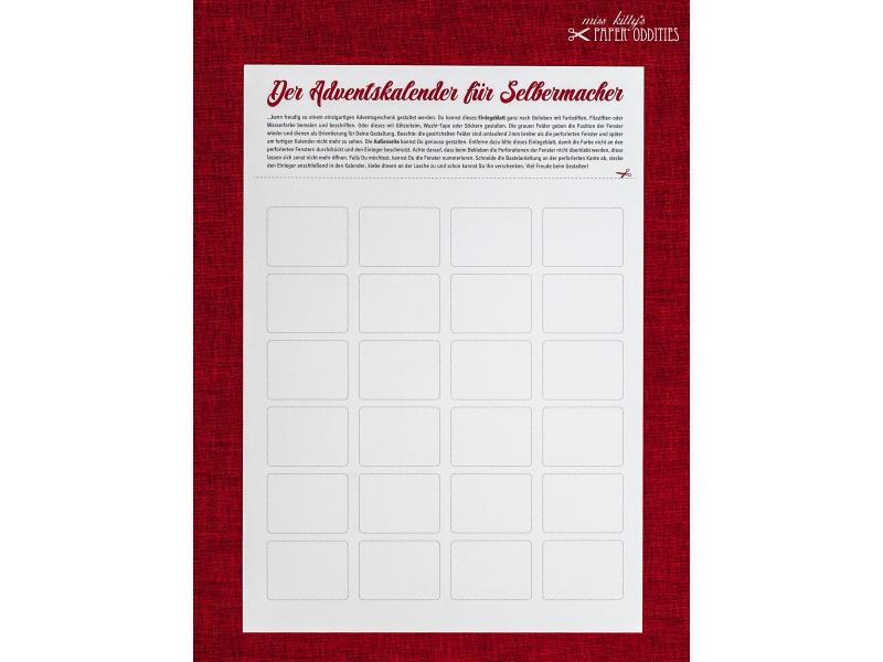 - DIY-Adventskalender zum individuellen Gestalten — 01.rechteckige Fenster  - DIY-Adventskalender zum individuellen Gestalten — 01.rechteckige Fenster