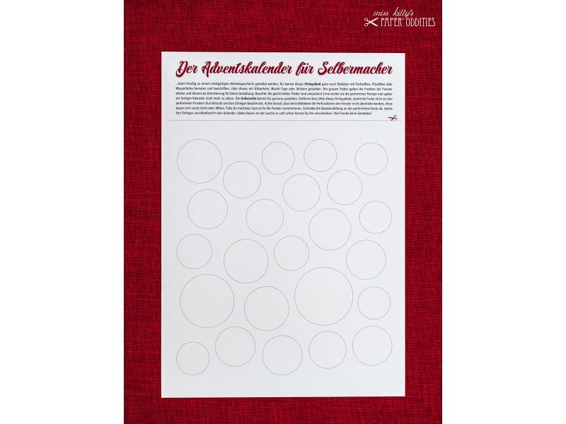 - DIY-Adventskalender zum individuellen Gestalten — 03.runde Fenster - DIY-Adventskalender zum individuellen Gestalten — 03.runde Fenster