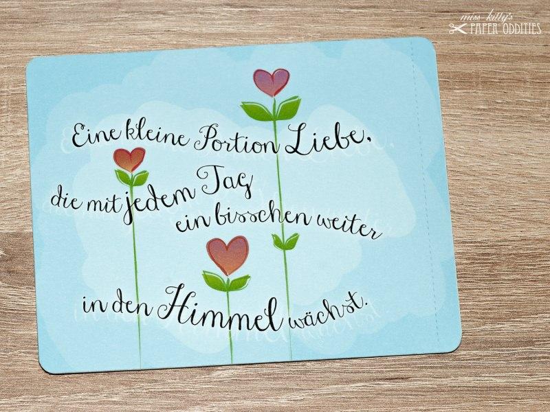 - Valentinstags-Postkarte, gefüllt mit Sommerblumensamen - Valentinstags-Postkarte, gefüllt mit Sommerblumensamen