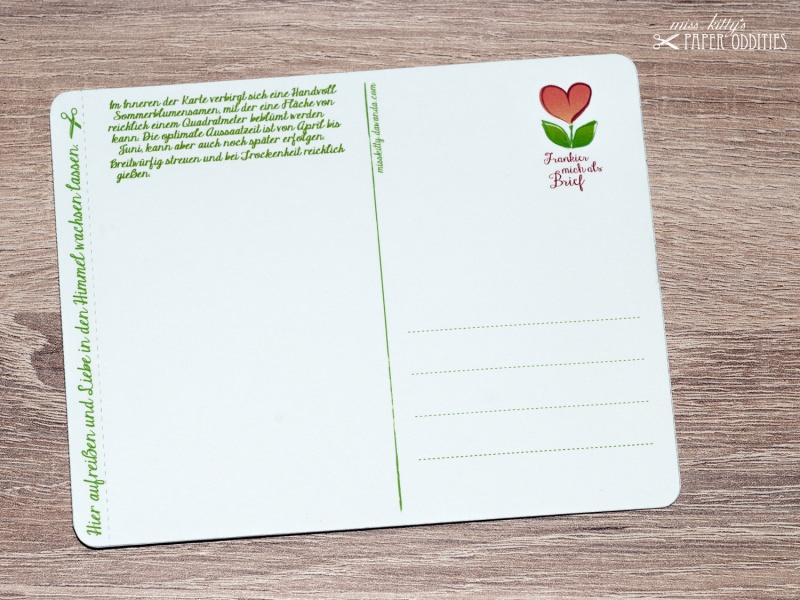 Kleinesbild - Valentinstags-Postkarte, gefüllt mit Sommerblumensamen