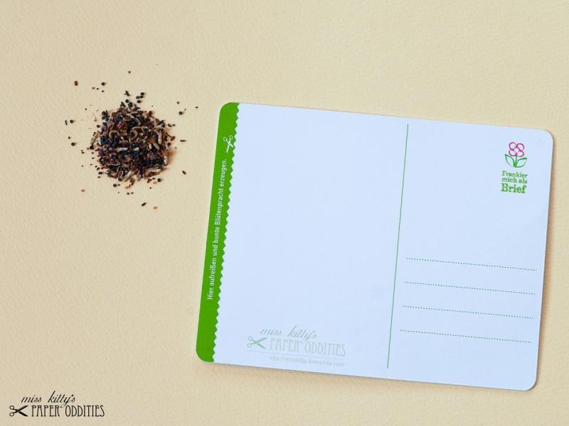 Kleinesbild - Postkarte »Guerilla Gardening«, gefüllt mit Wildblumensamen