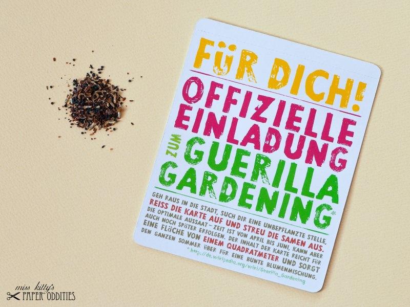 - Postkarte »Guerilla Gardening«, gefüllt mit Wildblumensamen - Postkarte »Guerilla Gardening«, gefüllt mit Wildblumensamen