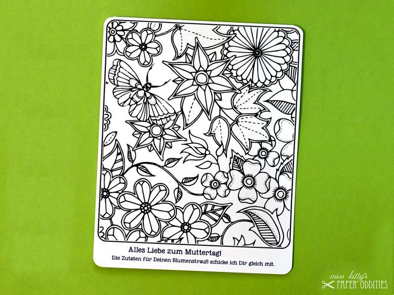 - Muttertags-Postkarte zum Ausmalen, gefüllt mit Sommerblumensamen - Muttertags-Postkarte zum Ausmalen, gefüllt mit Sommerblumensamen