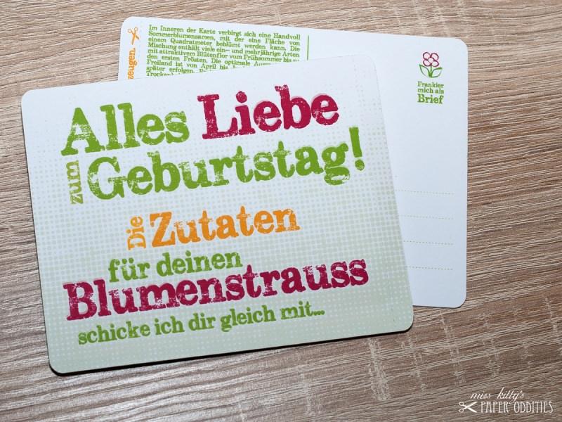 - Geburtstags-Postkarte, gefüllt mit Sommerblumensamen - Geburtstags-Postkarte, gefüllt mit Sommerblumensamen
