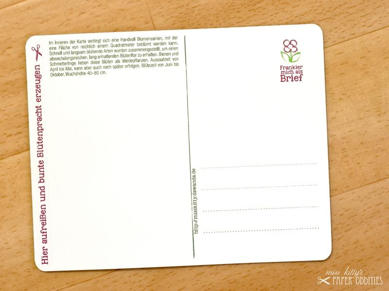 Kleinesbild - Geburtstags-Postkarte, gefüllt mit Sommerblumensamen