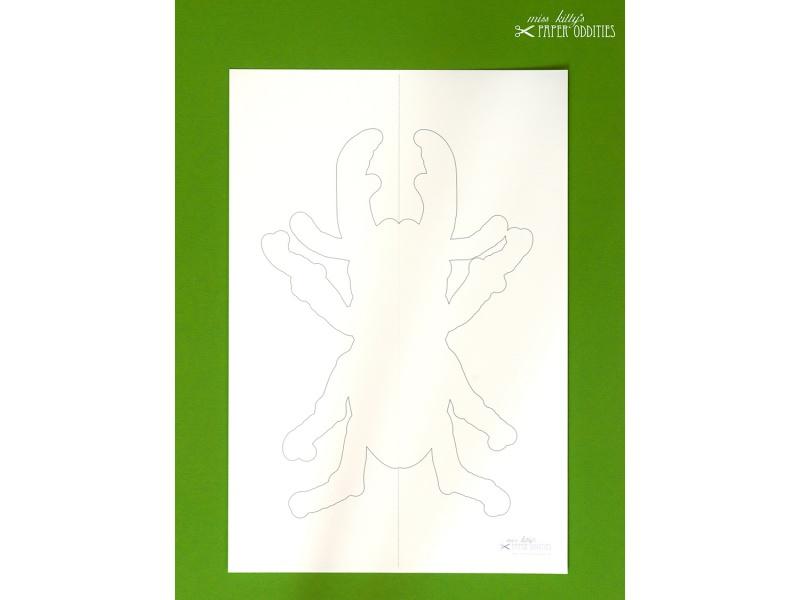 Kleinesbild - DIY-Wachs-Bügelbild »Käfer No. 3«