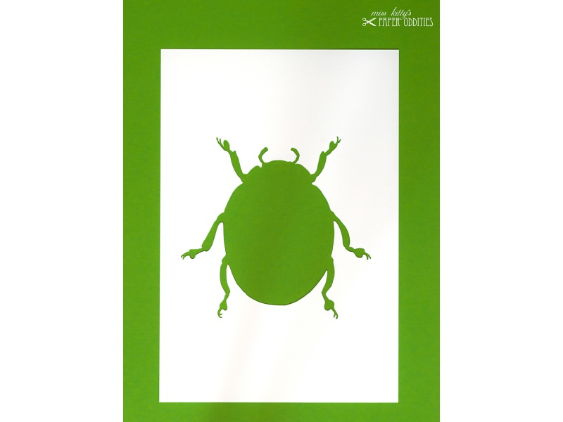 Kleinesbild - DIY-Wachs-Bügelbild »Käfer No. 4«