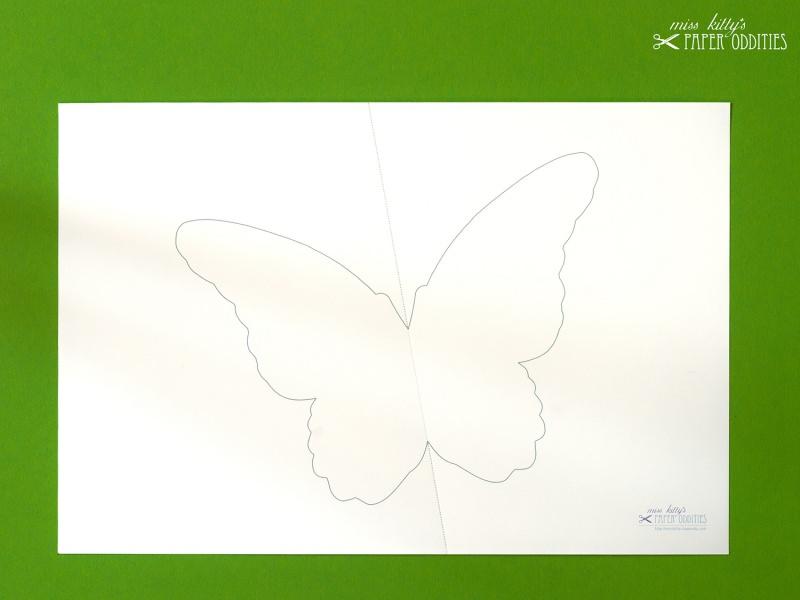Kleinesbild - DIY-Wachs-Bügelbild »Schmetterling No. 1«