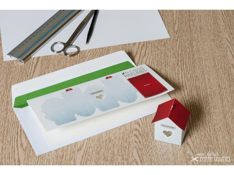 - Grußkarte »Vogelhaus« mit heraustrennbarem Bastelbogen — 01.schmutzigweiß - Grußkarte »Vogelhaus« mit heraustrennbarem Bastelbogen — 01.schmutzigweiß