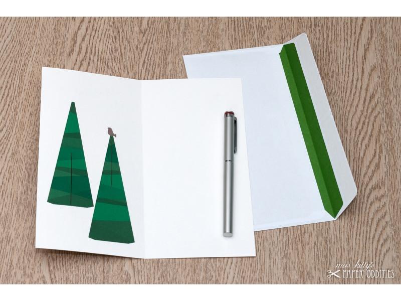 Kleinesbild - Bastel-Weihnachtskarte »A Tännschn, please!« mit heraustrennbarem Tannenbaum