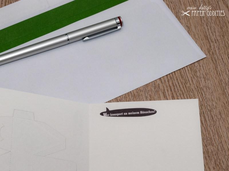 Kleinesbild - Bastel-Weihnachtskarte »Knusper, knusper, Knäuschen…« mit heraustrennbarem Knusperhaus