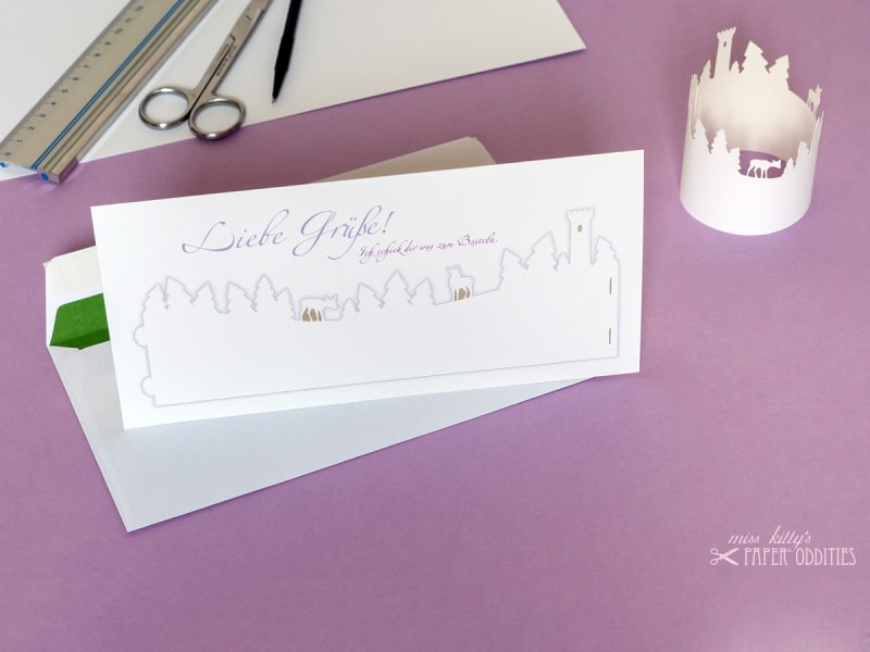 - Bastel-Grußkarte »Winterwald« mit heraustrennbarem Windlicht - Bastel-Grußkarte »Winterwald« mit heraustrennbarem Windlicht