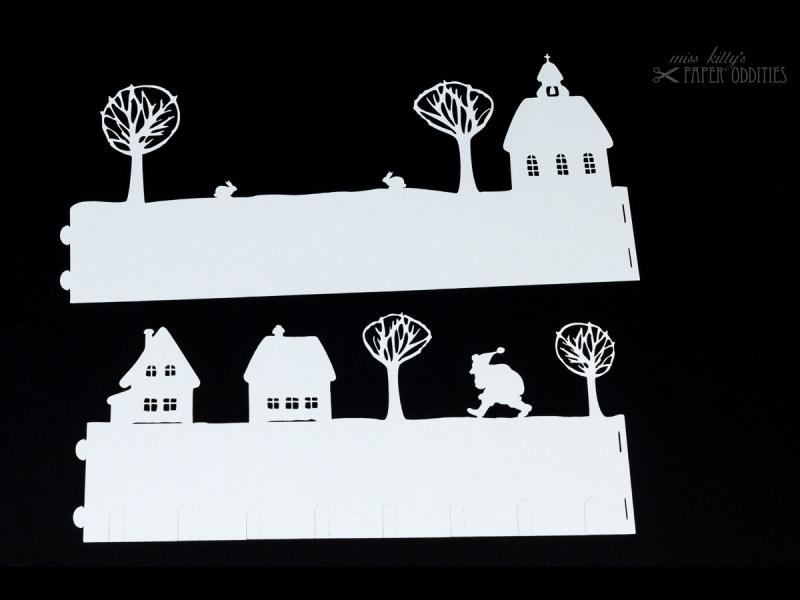 Kleinesbild - Windlicht-Bastelbogen »Der Weihnachtsmann kommt« zum Beleuchten mit einem (LED)-Teelicht