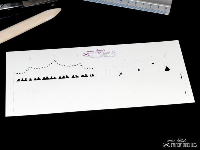 Kleinesbild - Windlicht-Bastelbogen »Zirkus« zum Beleuchten mit einem (LED)-Teelicht