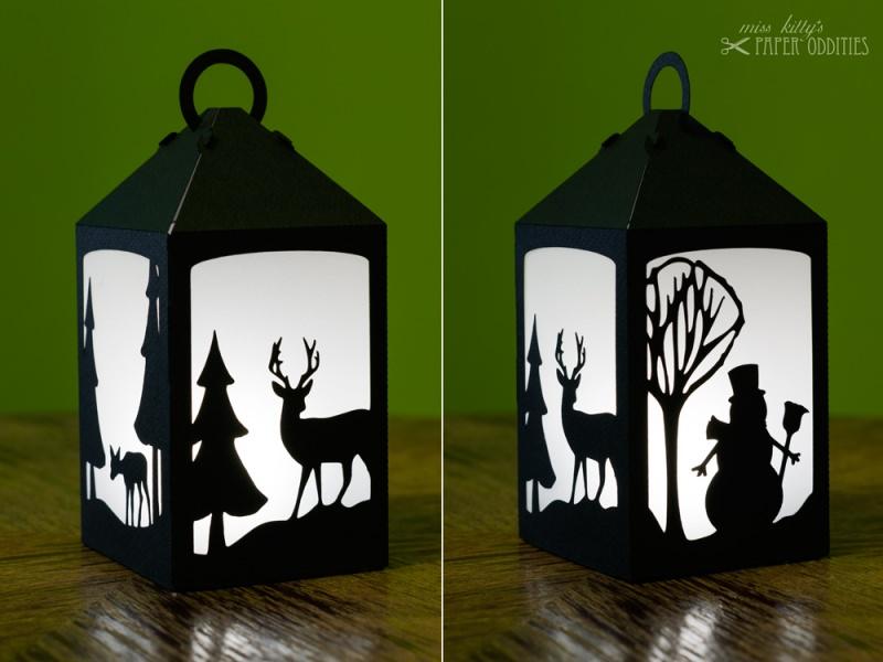 - Bastelset Laterne »Winterzauber« — schwarz, zum Beleuchten mit einem LED-Teelicht - Bastelset Laterne »Winterzauber« — schwarz, zum Beleuchten mit einem LED-Teelicht