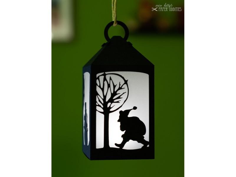 Kleinesbild - Bastelset Laterne »Winterzauber« — schwarz, zum Beleuchten mit einem LED-Teelicht
