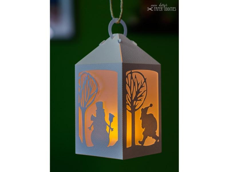 Kleinesbild - Bastelset Laterne »Winterzauber« — weiß, zum Beleuchten mit einem LED-Teelicht