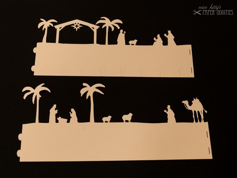 Kleinesbild - Windlicht-Bastelbogen »Christi Geburt« zum Beleuchten mit einem (LED)-Teelicht