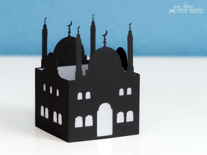 Kleinesbild - Windlicht-Bastelset »Moschee« — 01.schwarz, zum Beleuchten mit einem (LED)-Teelicht