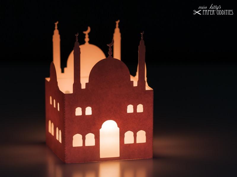 - Windlicht-Bastelset »Moschee« — 02.chamois, zum Beleuchten mit einem (LED)-Teelicht - Windlicht-Bastelset »Moschee« — 02.chamois, zum Beleuchten mit einem (LED)-Teelicht