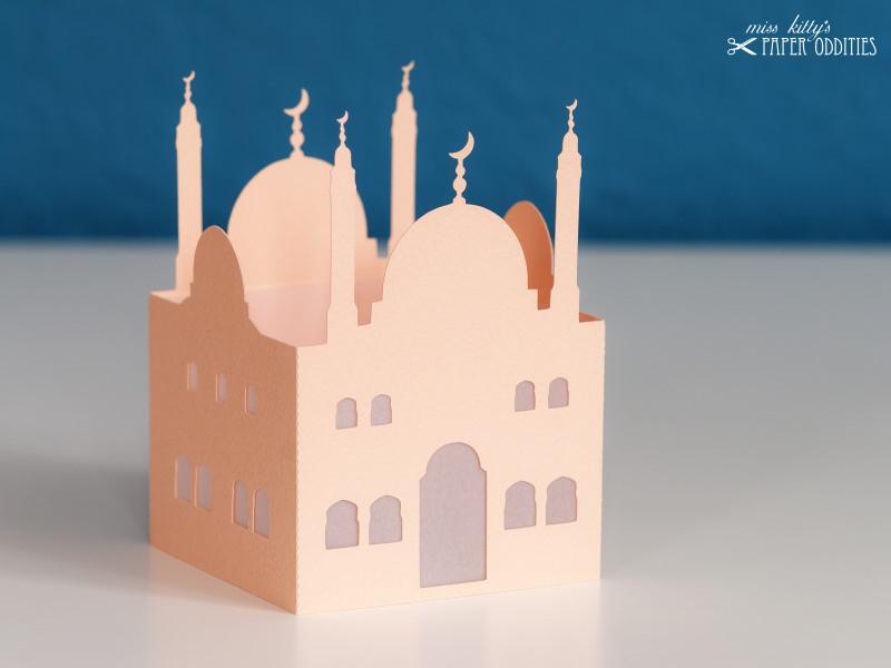 Kleinesbild - Windlicht-Bastelset »Moschee« — 02.chamois, zum Beleuchten mit einem (LED)-Teelicht