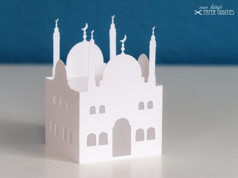 Kleinesbild - Windlicht-Bastelset »Moschee« — 03.weiß, zum Beleuchten mit einem (LED)-Teelicht