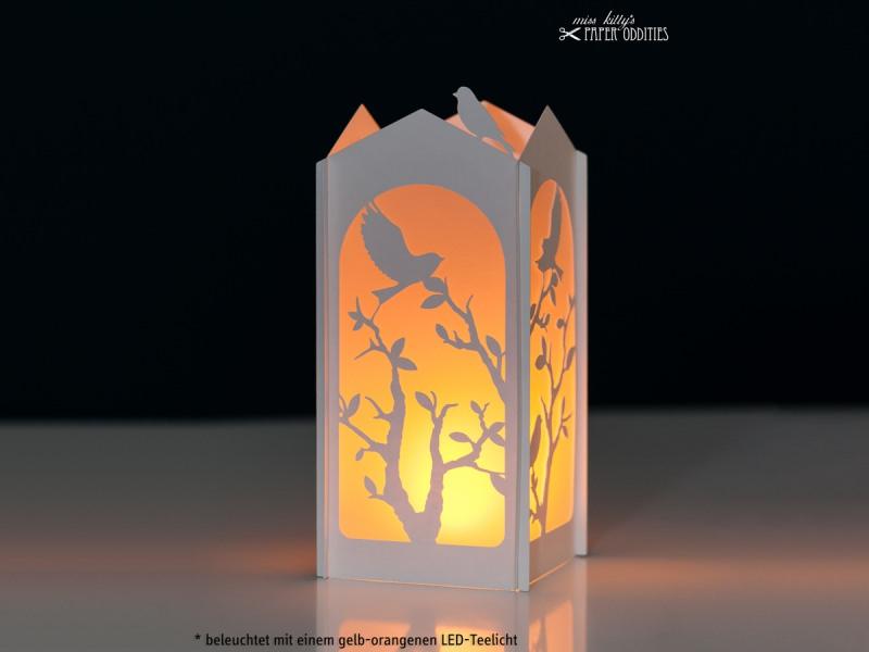 - Windlicht-Bastelset »Frühlingserwachen« — 01.weiß, zum Beleuchten mit einem (LED)-Teelicht - Windlicht-Bastelset »Frühlingserwachen« — 01.weiß, zum Beleuchten mit einem (LED)-Teelicht