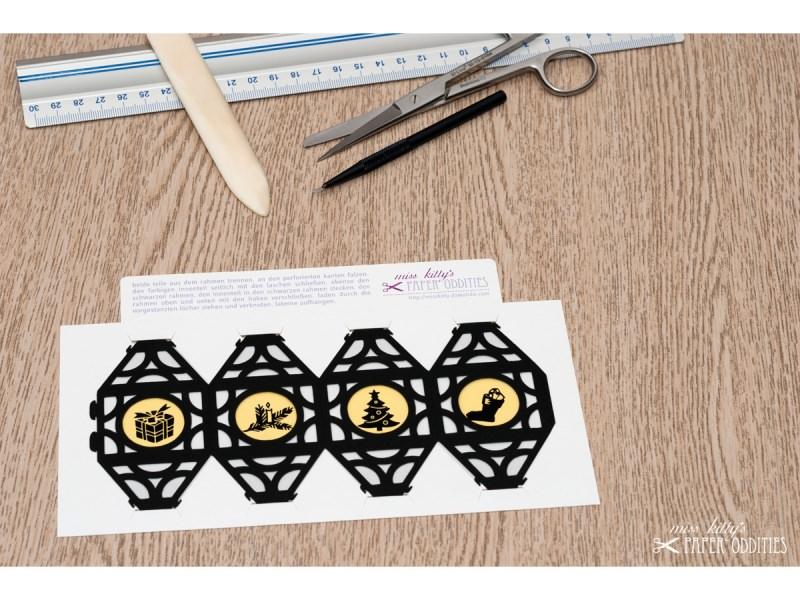 Kleinesbild - Weihnachtliche Papierlaterne — 01.silbergrau