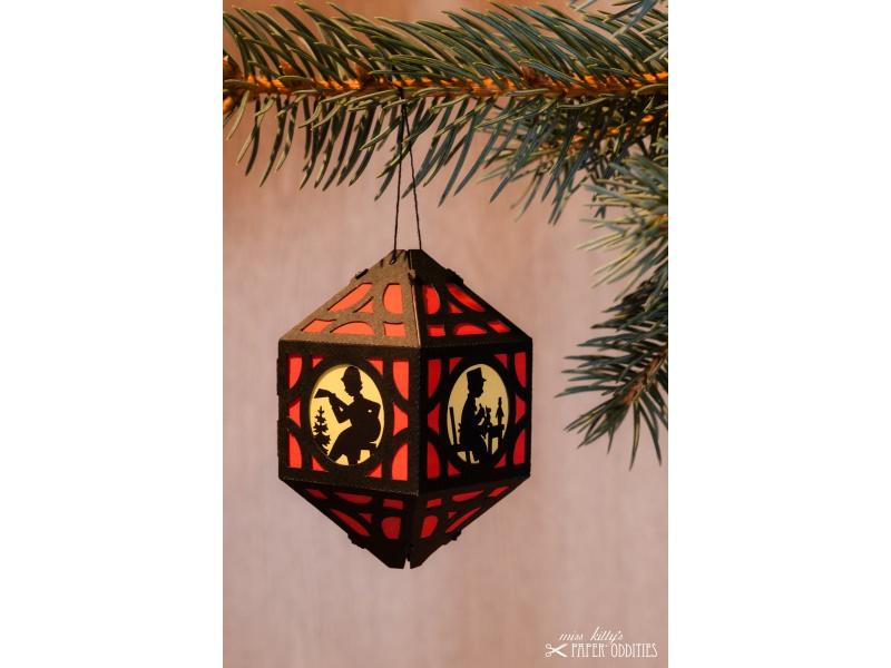 - Weihnachtliche Papierlaterne — 04.rot - Weihnachtliche Papierlaterne — 04.rot