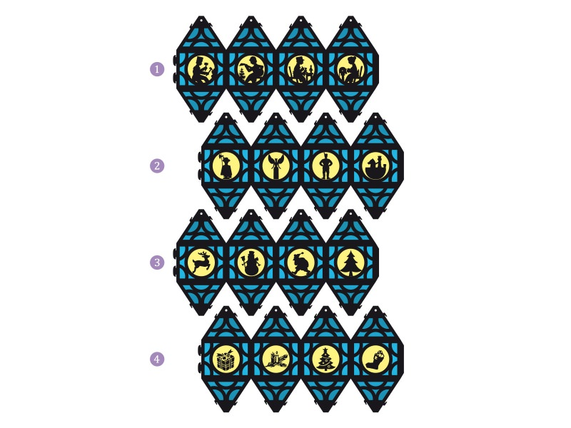 Kleinesbild - Weihnachtliche Papierlaterne — 05.hellblau