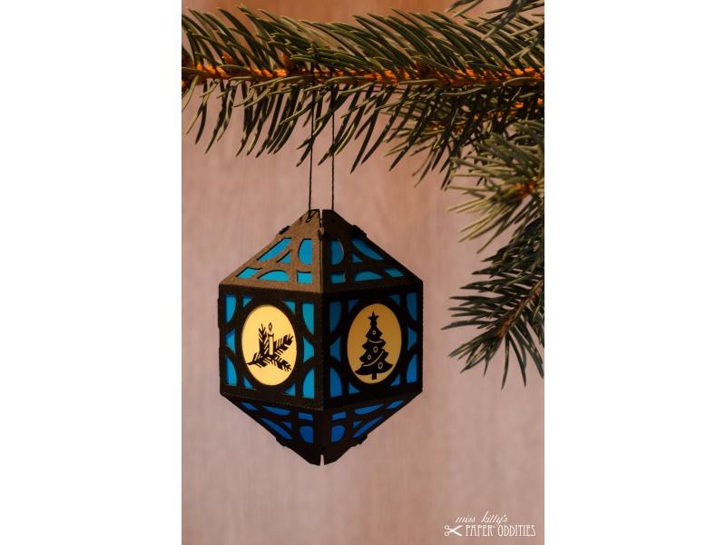- Weihnachtliche Papierlaterne — 06.dunkelblau - Weihnachtliche Papierlaterne — 06.dunkelblau