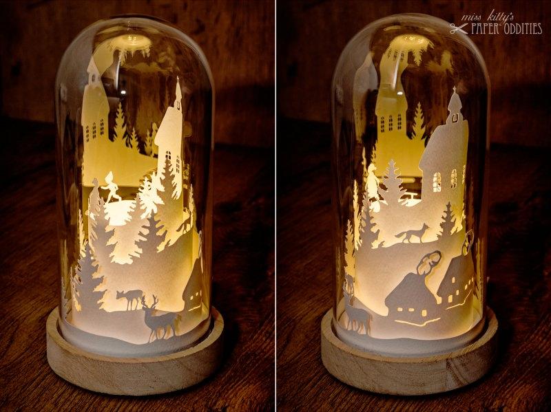 Kleinesbild - Glasdom »Christnacht«, LED-beleuchtete Weihnachtsszene im Glas