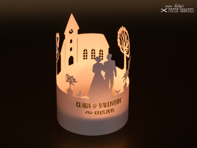 - Bastelbogen Windlicht »Hochzeit« 1-tlg. zur Beleuchtung mit einem (LED-) Teelicht - Bastelbogen Windlicht »Hochzeit« 1-tlg. zur Beleuchtung mit einem (LED-) Teelicht