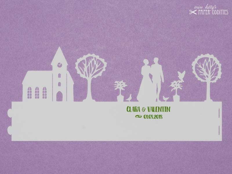 Kleinesbild - Bastelbogen Windlicht »Hochzeit« 1-tlg. zur Beleuchtung mit einem (LED-) Teelicht