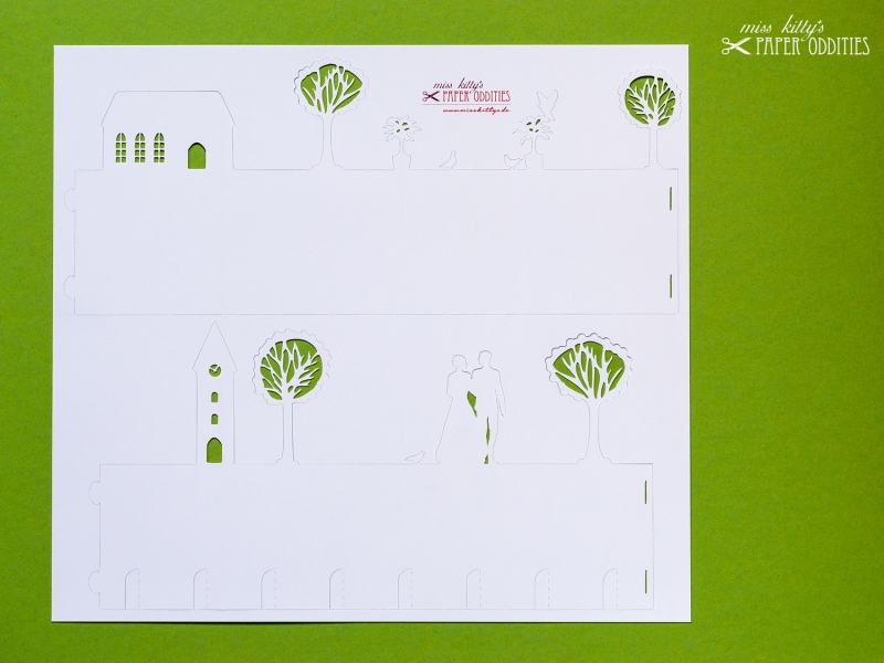 Kleinesbild - Bastelbogen Windlicht »Hochzeit« 2-tlg. zur Beleuchtung mit einem (LED-) Teelicht