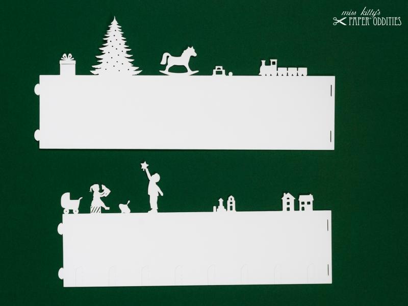 Kleinesbild - Windlicht-Bastelbogen »Weihnachtsstube« – weiß; zum Beleuchten mit einem (LED)-Teelicht