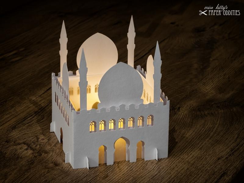 - Windlicht-Bastelset »Moschee« 3-teilig (perlweiß), zum Beleuchten mit einem (LED)-Teelicht - Windlicht-Bastelset »Moschee« 3-teilig (perlweiß), zum Beleuchten mit einem (LED)-Teelicht