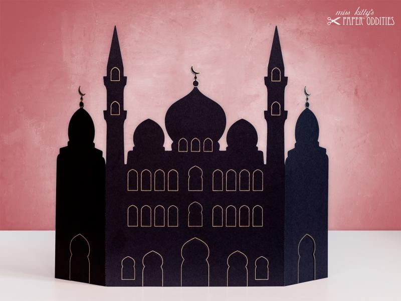 Kleinesbild - Ramadan-Kalender »Moschee«, zum Beleuchten mit einem (LED)-Teelicht oder einer Kerze