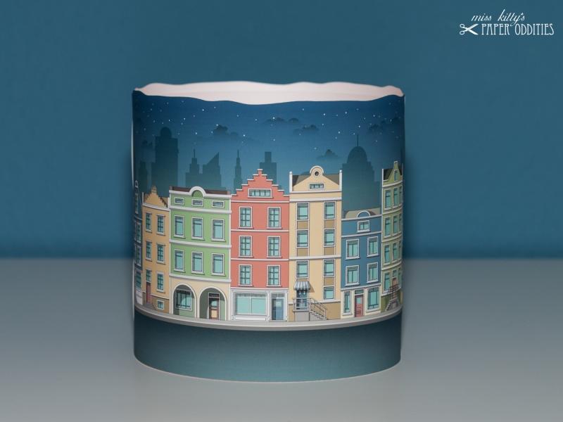 Kleinesbild - Adventskalender »Lichter der Stadt«, zum Beleuchten mit einer Kerze oder LED-Teelicht