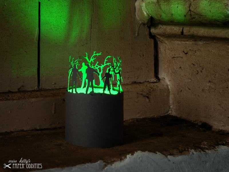 - Windlicht-Bastelbogen »Zombies« zum Beleuchten mit einem (LED)-Teelicht - Windlicht-Bastelbogen »Zombies« zum Beleuchten mit einem (LED)-Teelicht