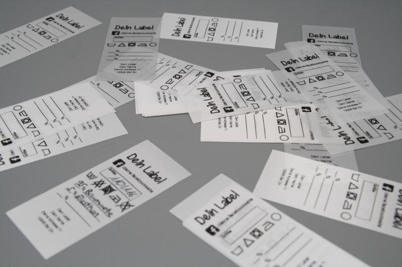 Kleinesbild - 100 Textilkennzeichnungsetiketten