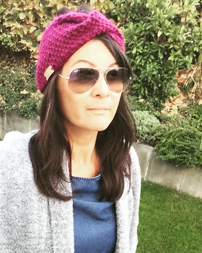 Kleinesbild - ROTHBARTH - gestricktes Stirnband in der Trendfarbe 2018/19