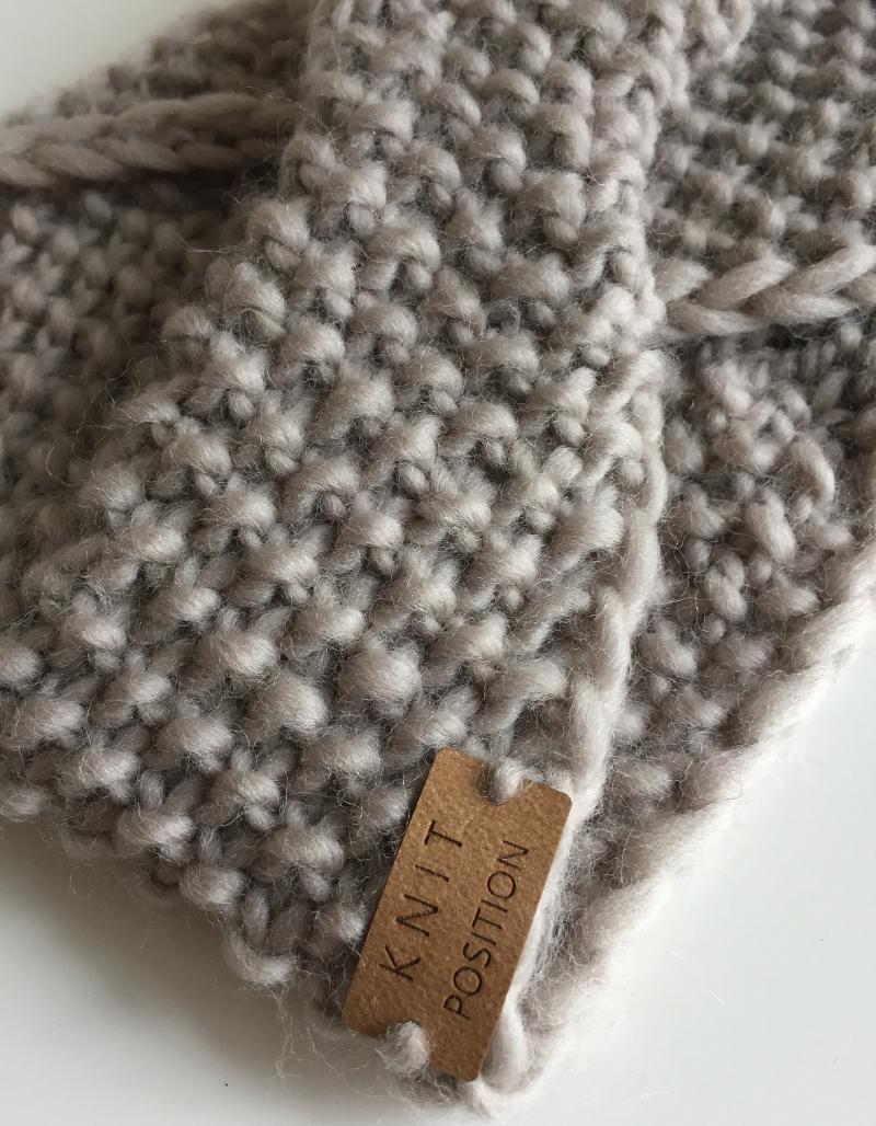 Kleinesbild - COPPÉLIA - gestricktes Stirnband im klassischen Grau