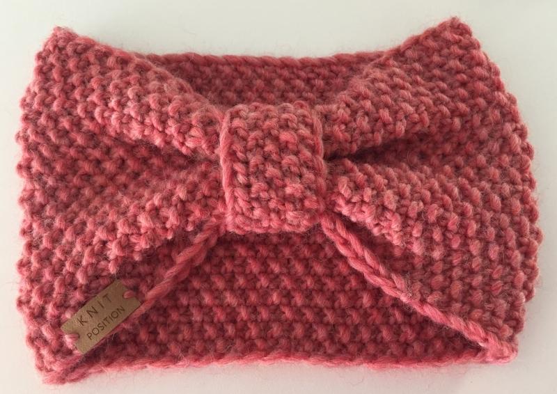 Kleinesbild - DORNRÖSCHEN - süßes Schleifen-Stirnband aus weicher Schafswolle